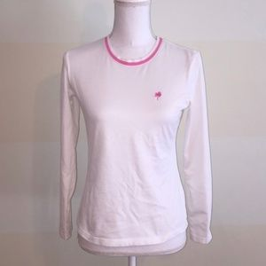 LILLY PULITZER white cotton long sleeve crew neck